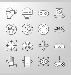 virtual reality thin line icon vector image