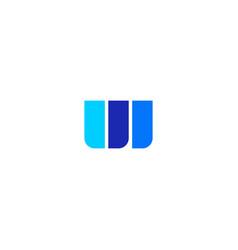 W letter double u logo icon vector