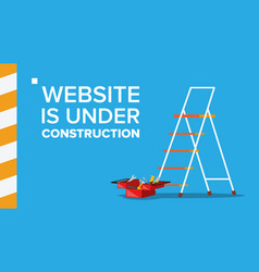 Website under construction landing page vector