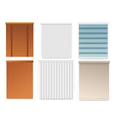 window blinds or shutters template realistic set vector image