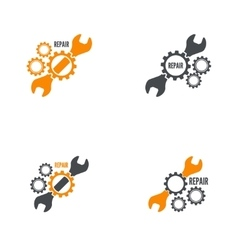 Wrench and gear icon vector