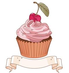 Beautiful cupcake vector image