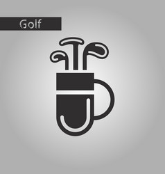 black and white style icon bag with clubs vector image vector image