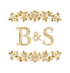 Bs vintage initials logo symbol letters b vector