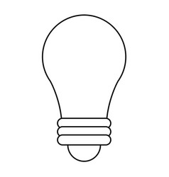 bulb imagination innovation outline vector image vector image