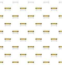 do not cross traffic barrier pattern vector image