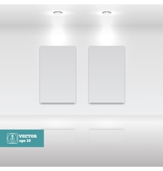 Empty White frames in art gallery vector image vector image
