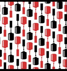 seamless pattern with nail polish bottles vector image vector image