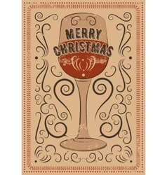 Typographic vintage style Christmas card vector image