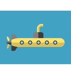 Yellow submarine flat style vector image vector image