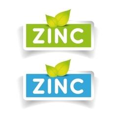 Zinc label set vector image
