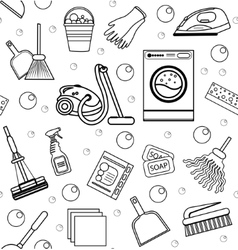 Cleaning seamless pattern endless background vector image vector image