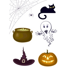 halloween set vector image vector image