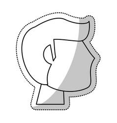 Head man groom wedding outline vector