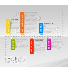 Horizontal infographic timeline report template vector