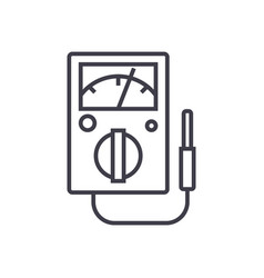 meter line icon sign on vector image
