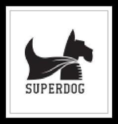 Super Dog Hero Emblem vector image