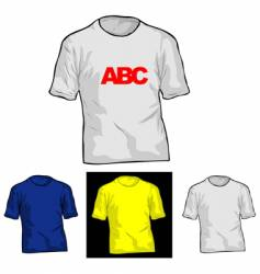 Color and white t-shirt templates vector