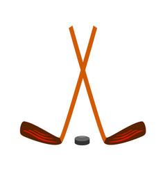 hockey set icon on white vector image
