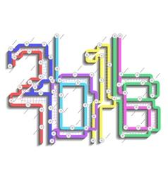 scheme subway 2016 vector image
