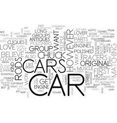 what kind of car lover are you text word cloud vector image