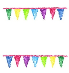 Bunting background Engraving pennants vector image vector image