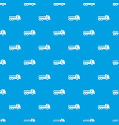 dumper truck pattern seamless blue vector image vector image