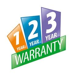 Logo 1 2 3 year guarantee vector