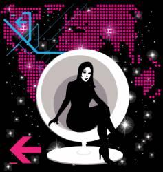 modern girl vector image vector image