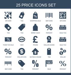 25 price icons vector