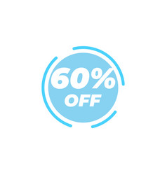 60 percent off sale label design template vector image
