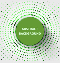 Abstract background with green circles halftone vector