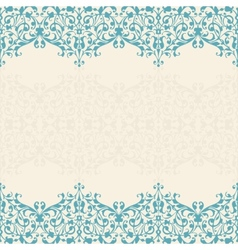 Abstract floral background seamless lace vector image