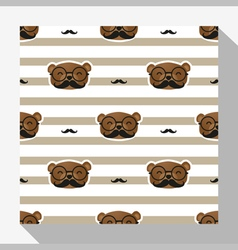 Animal seamless pattern collection with bear 3 vector