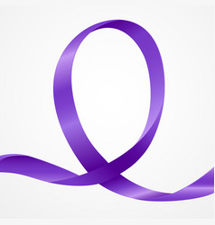 Awareness purple ribbon vector