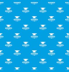 Blacksmith pattern seamless blue vector