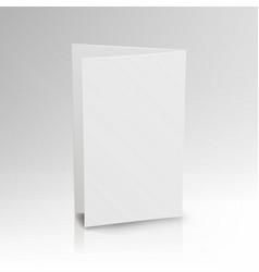 Blank folder white leaflet 3d mockup vector