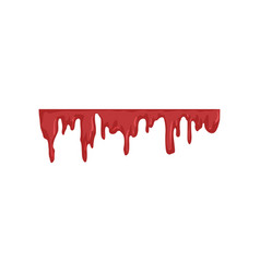 blood dripping flowing red liquid vector image