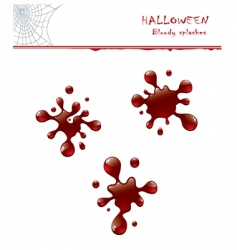 bloody splashes vector image