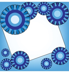 Blue background with abstract circles design vector