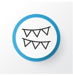 bunting icon symbol premium quality isolated vector image