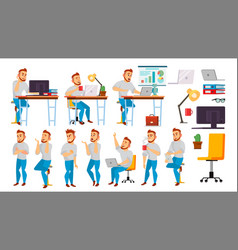 business character working people set vector image