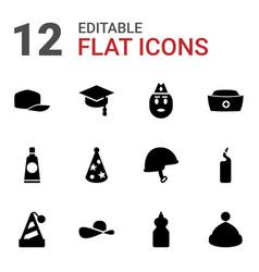 cap icons vector image