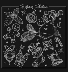 christmas collection symbolic traditional vector image