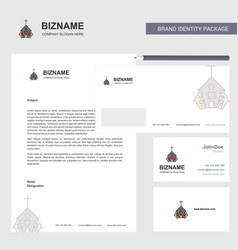 church business letterhead envelope and visiting vector image