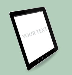 Computer tablet perspective vector
