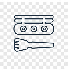 Concealer concept linear icon isolated on vector
