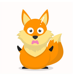 Cute fox character with a confused expression vector