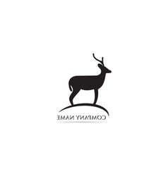 deer logo and symbol vector image