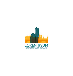 denmark copenhagen skyline vector image